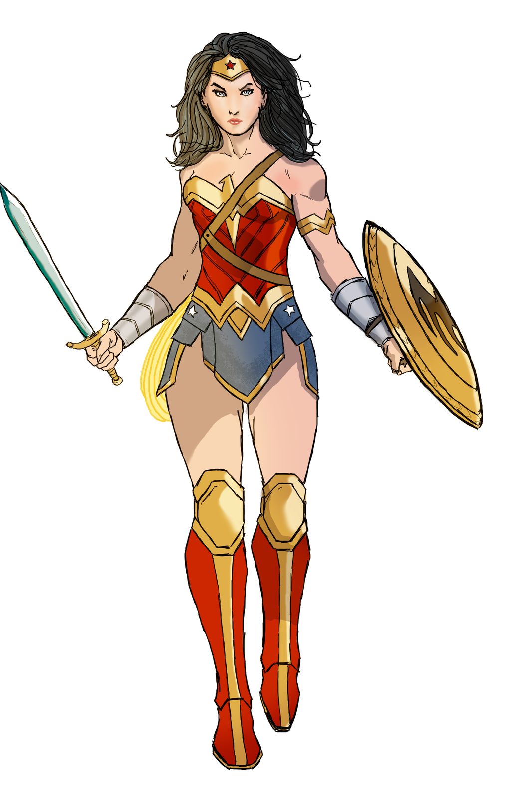 1024x1583 Wonder Woman By Spriteman1000