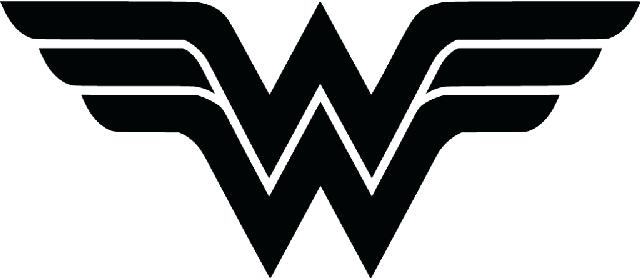 640x278 Wonder Woman Logo Vector Font Free Download Clip Art On Online