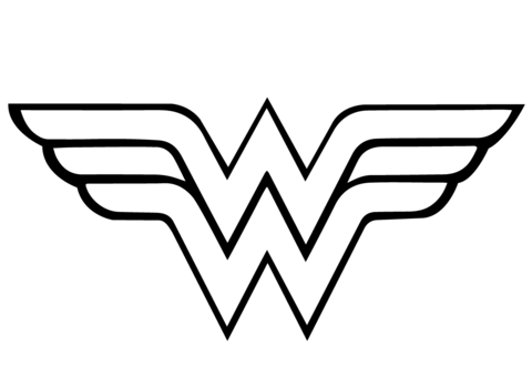 480x339 Wonder Woman Logo Coloring Page Free Printable Coloring Pages