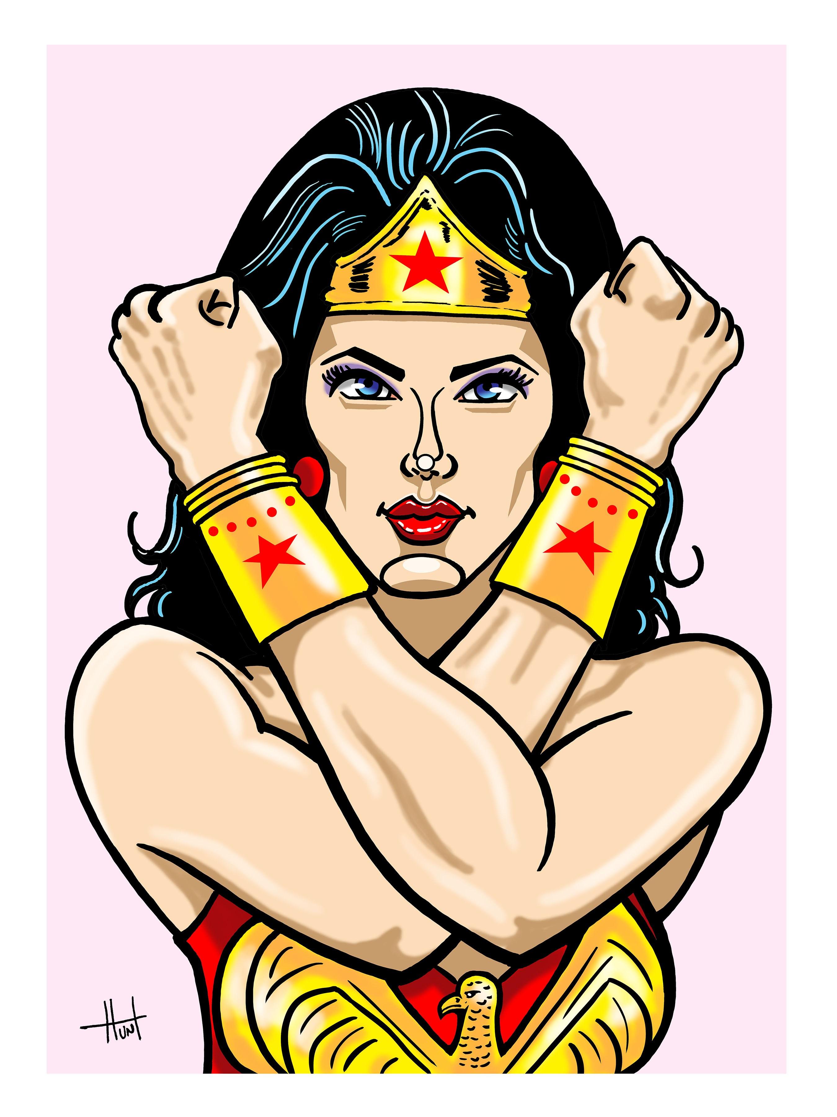 2700x3600 Wonder Woman Cartoonist, Illustrator, Illustration, Orange