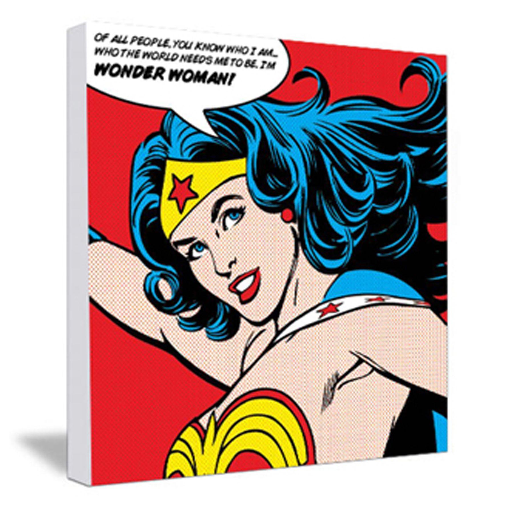 1800x1800 Wonder Woman Pop Art Canvas
