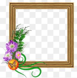260x261 Cartoon Watercolor Wood Frame Decoration Pattern