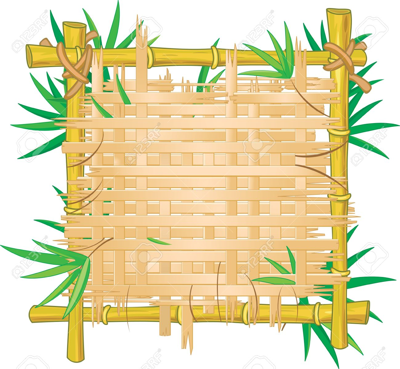 1300x1199 Bamboo Clipart Rustic Wood Frame