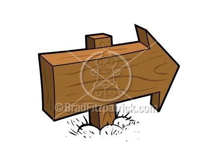 432x324 Royalty Free Cartoon Wood Arrow Sign Clipart Cartoon Wood Arrow