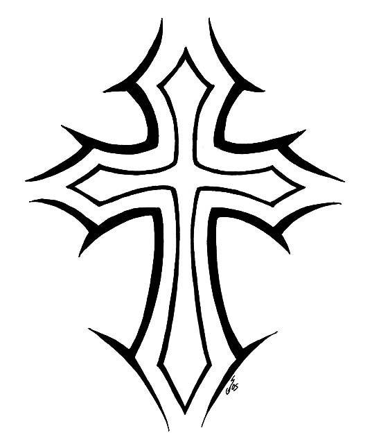 Wood Cross Drawing