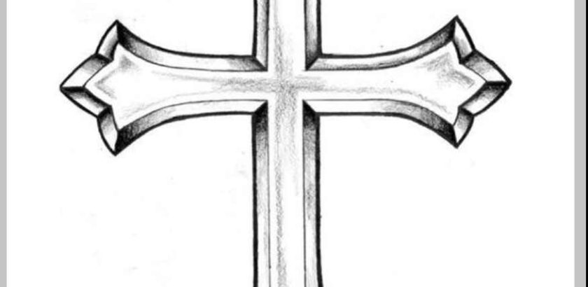 840x410 Pencil Drawings Of Crosses Drawing Examples And Drawing