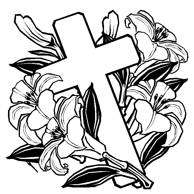 653x653 Easter Coloring Pages Cross Coloring Pages Easter