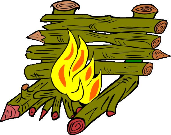 600x473 Fire Catching Wood Clip Art
