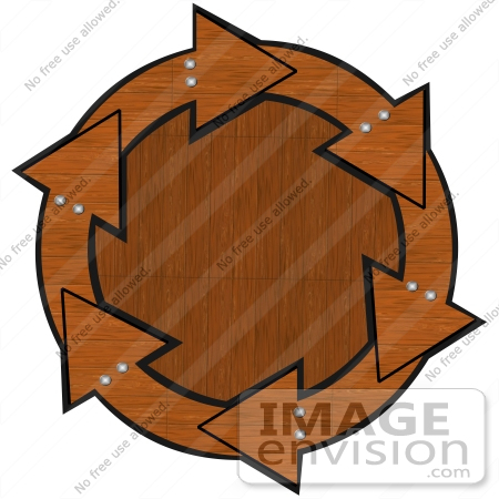 450x450 Clip Art Graphic Of Brown Wood Arrows With Bolts Circling A Wood