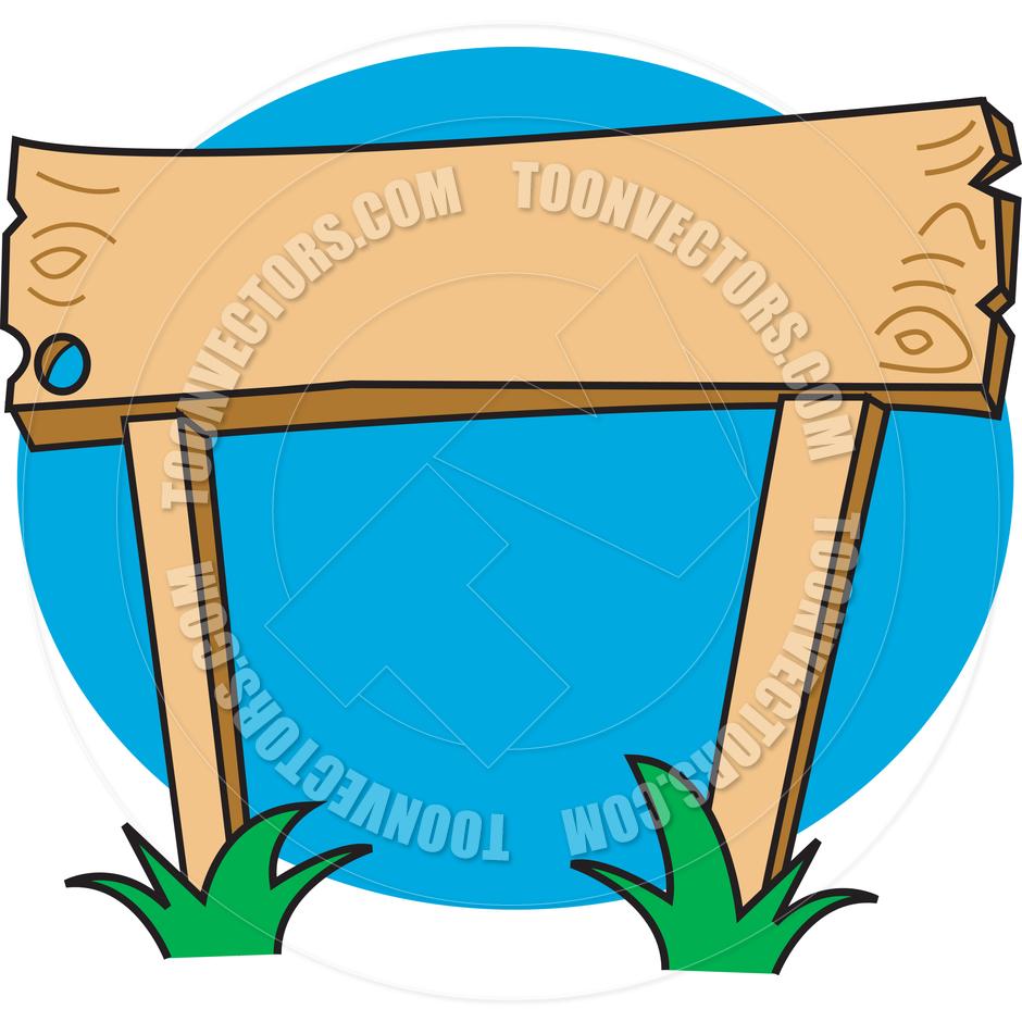 940x940 Cartoon Wooden Sign Vector Illustration By Clip Art Guy Toon