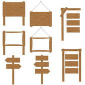 170x170 Clipart Of Wooden Signs K10004810
