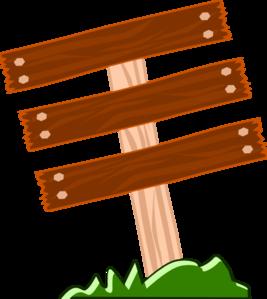 267x299 Wood Sign Clip Art