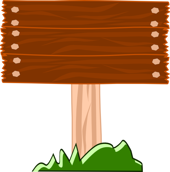 588x596 Wood Street Sign Clip Art