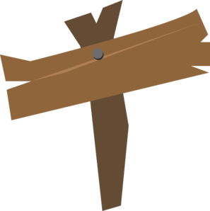 297x298 Wooden Sign Clip Art