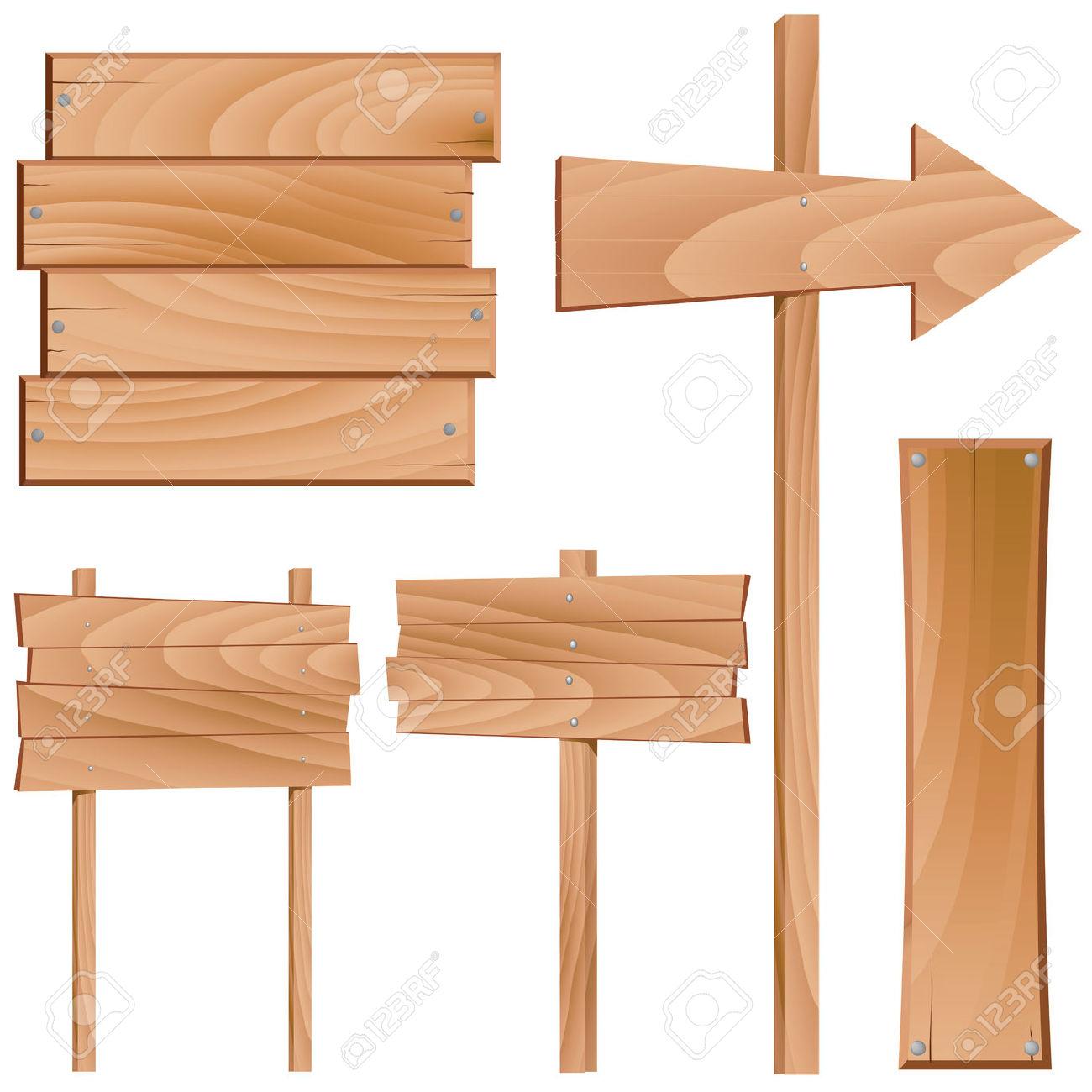 1300x1300 Vector Wood Sign Clipart