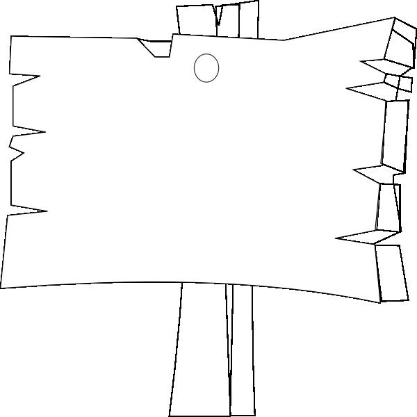 600x600 Blank Wood Sign Clip Art