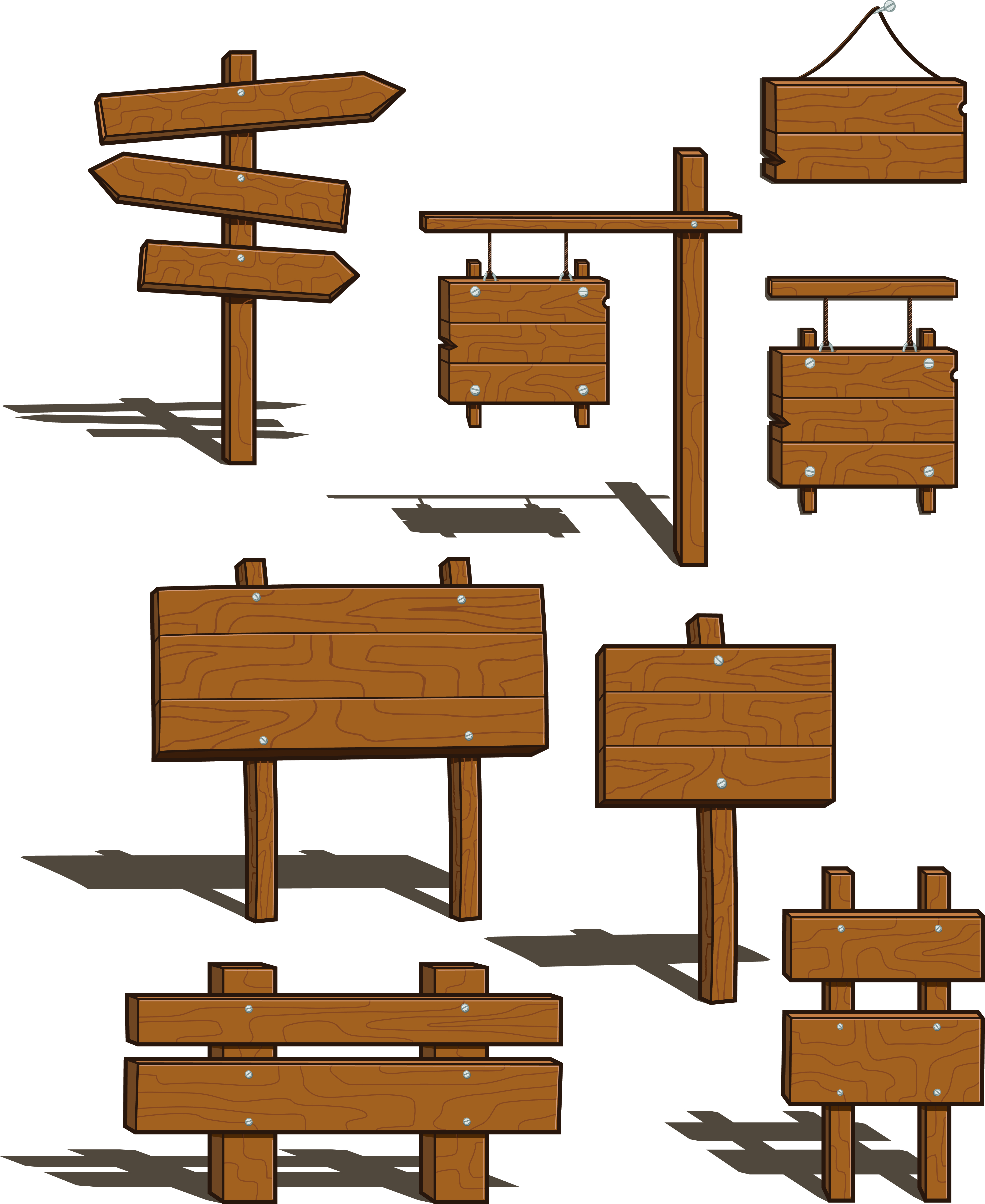 Wood Signs Clipart