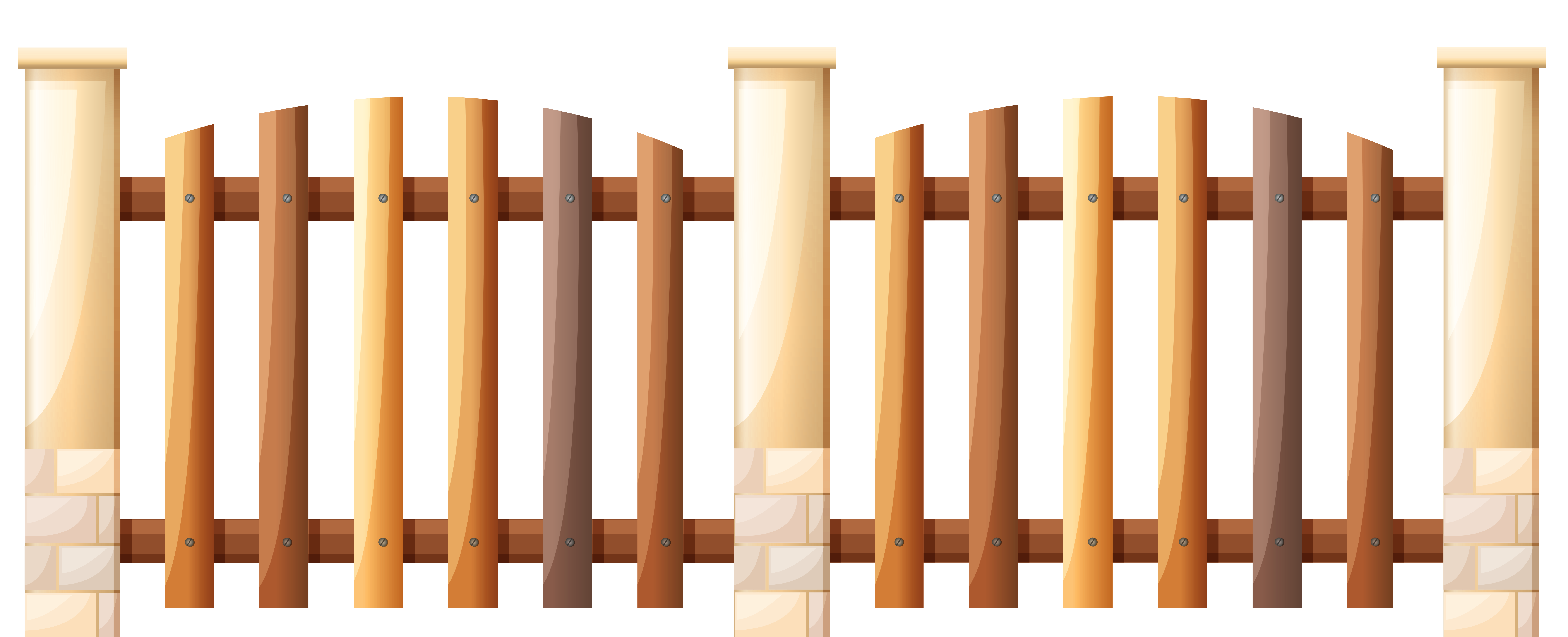 7187x2919 Fence Clipart Wooden Fence