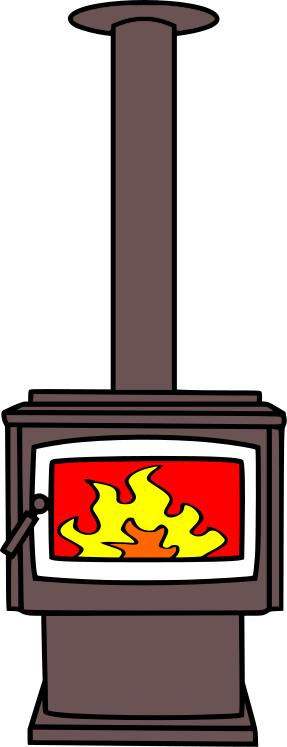 287x747 Fireplace Clipart Wood Fire