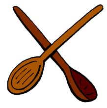 218x220 Fork Clipart Wooden Spoon