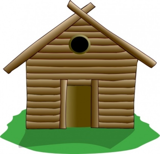 626x603 Hut Clipart Wooden House