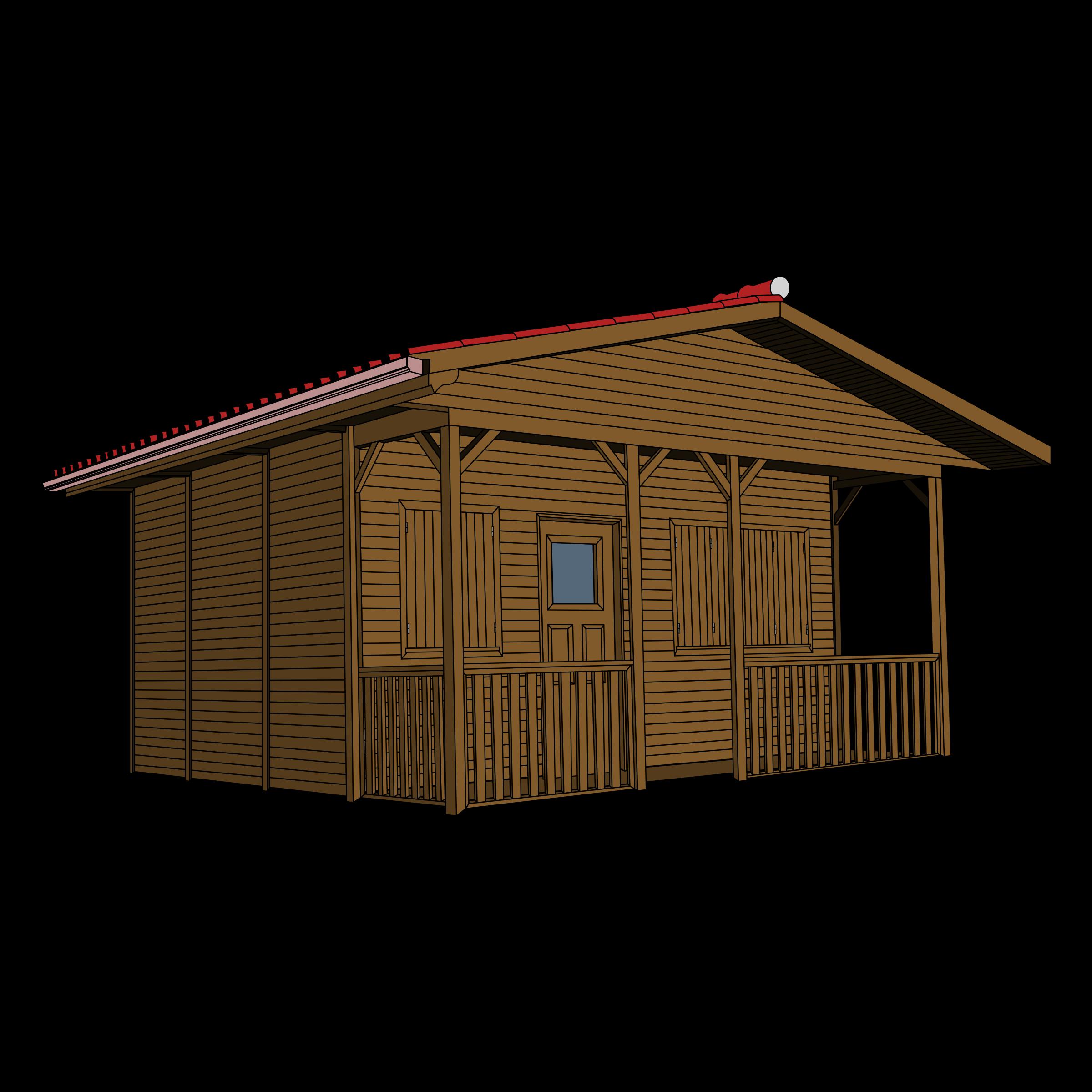 2400x2400 Hut Clipart Wooden House