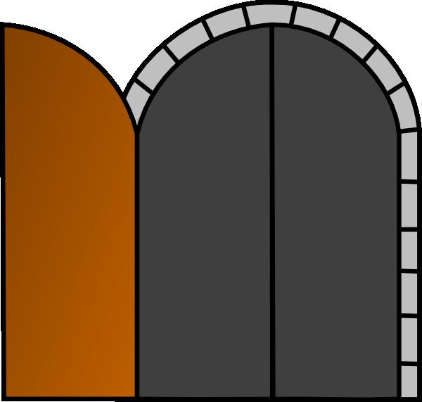 600x571 Open Wooden Door Clip Art