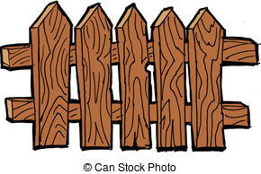290x194 Rustic Clipart Wooden Fence