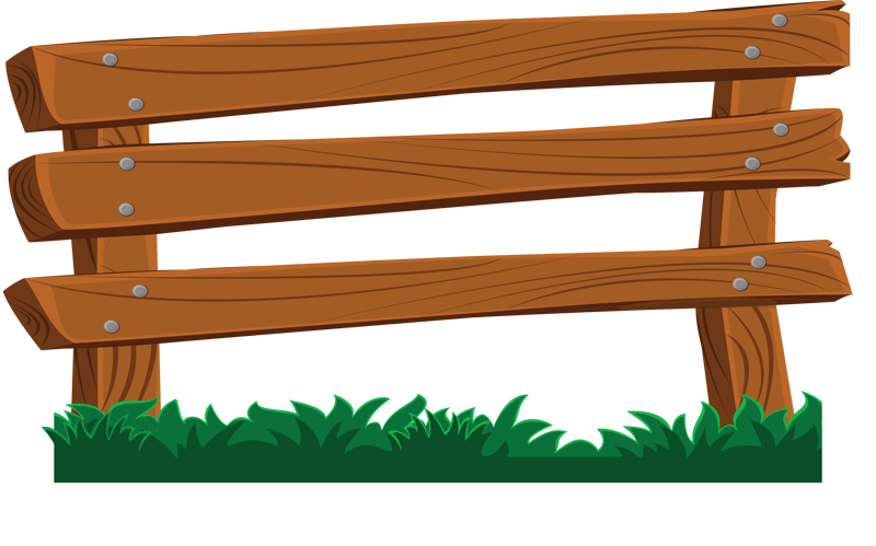 800x499 Wood Fence Clipart