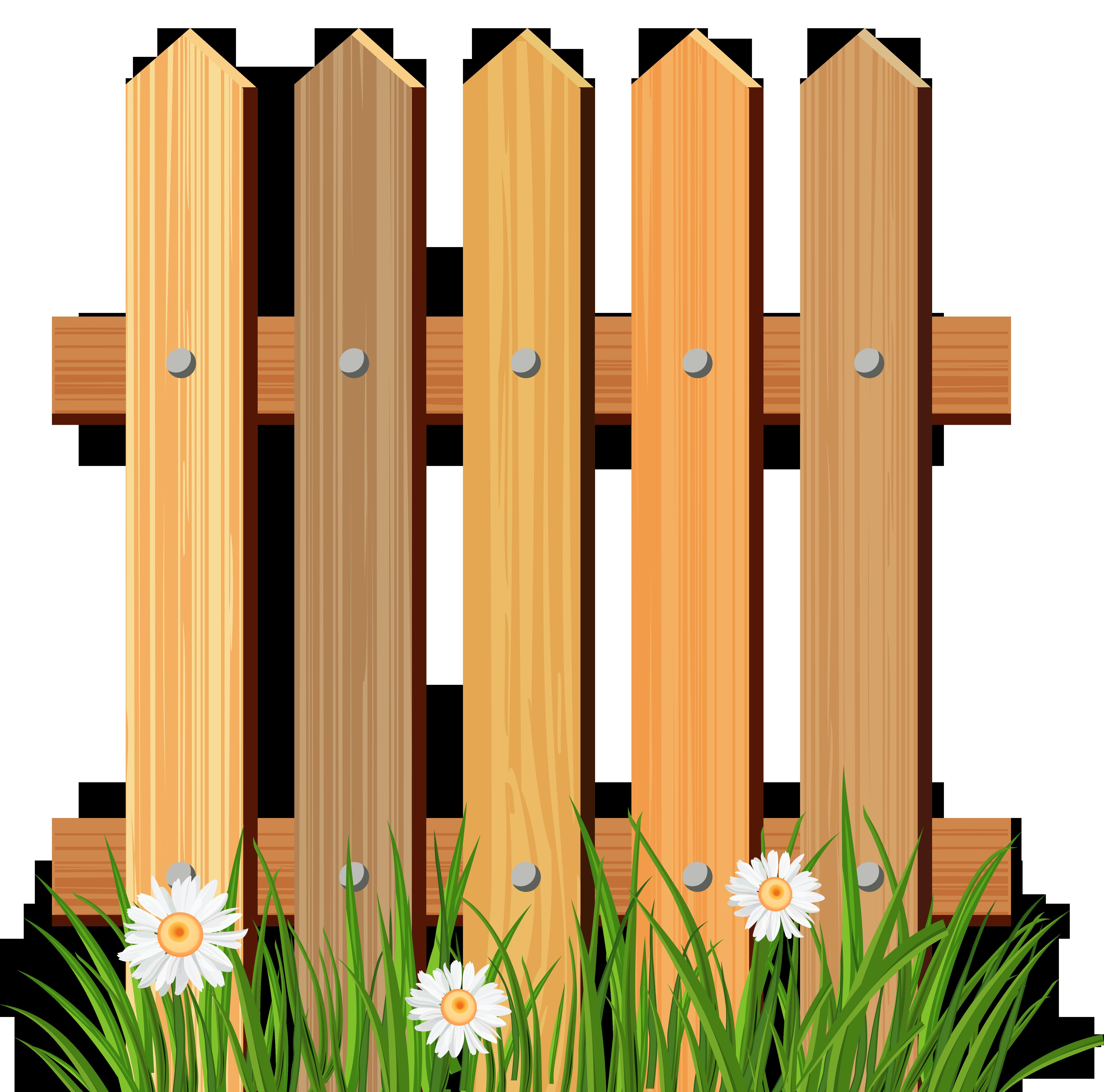 5165x5109 Wooden Garden Fence Clipart