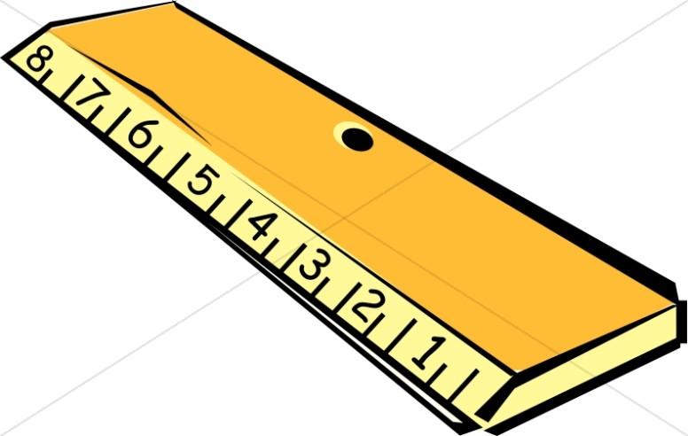 776x492 Wooden Ruler Clipart