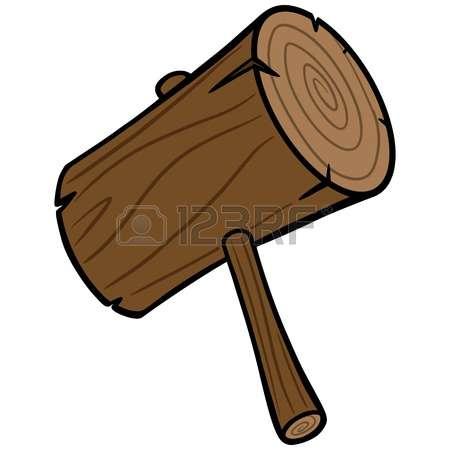 450x450 Wooden Hammer Clipart