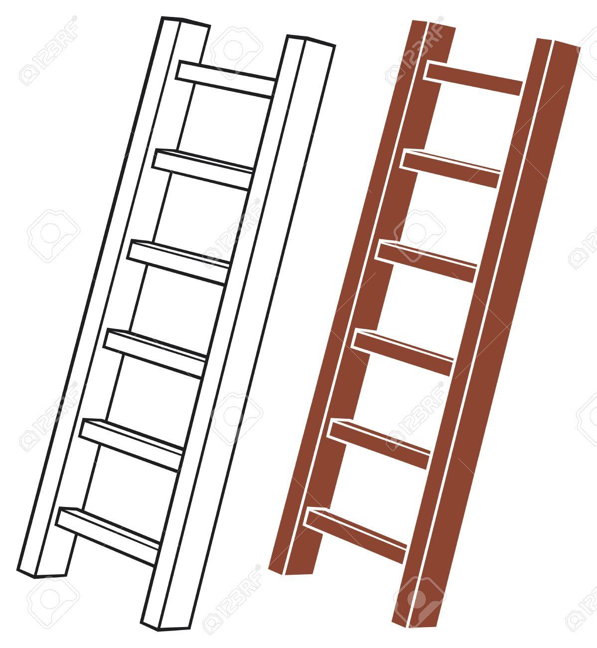 1198x1300 Wooden Ladder Clipart