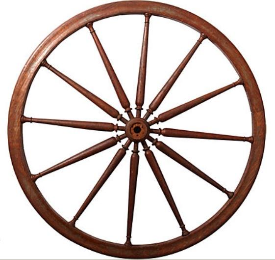 561x529 Wooden Wheel Clipart
