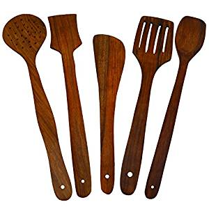 300x300 Buy Handmade Wooden Serving And Cooking Spoon Kitchen Utensil Set