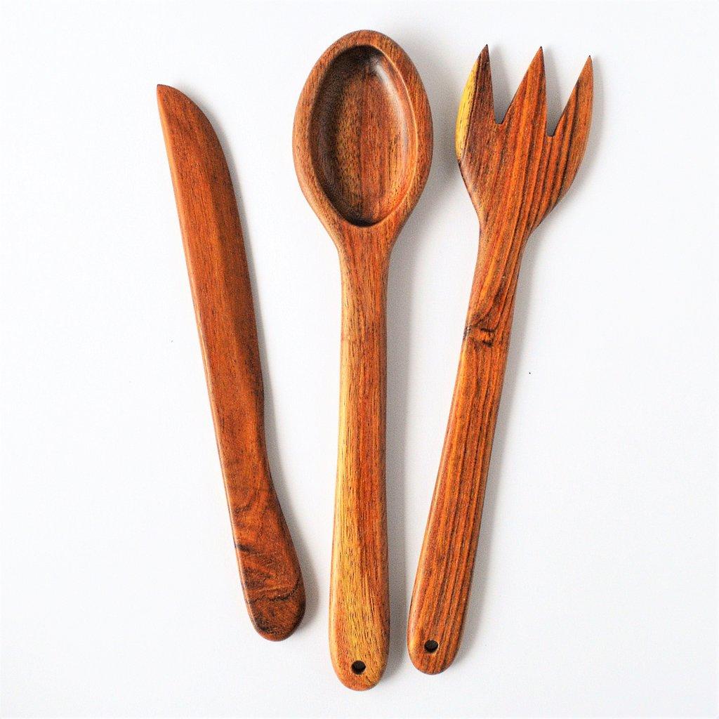 1024x1024 Handmade Wooden Kitchen Spoon, Fork, Spatula Set, Kitchen Utensils