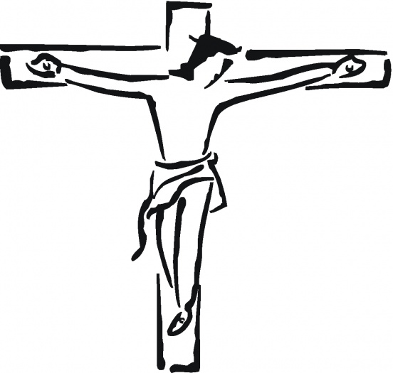 552x525 Jesus On The Cross Clipart