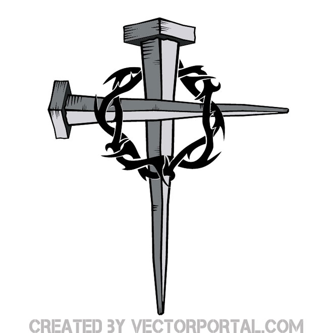660x660 Nails Clipart The Cross
