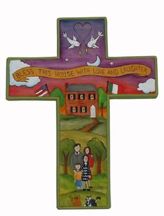 236x312 Large Wooden Cross Wooden Crosses, Folk Art And Paper Clip