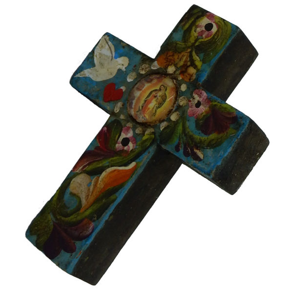 600x600 Our Lady Of Guadalupe Hand Painted Wooden Cross