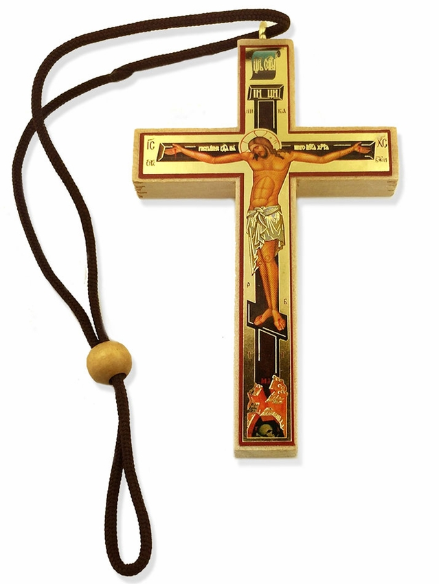 639x850 Small Decoupage Wooden Cross On Rope