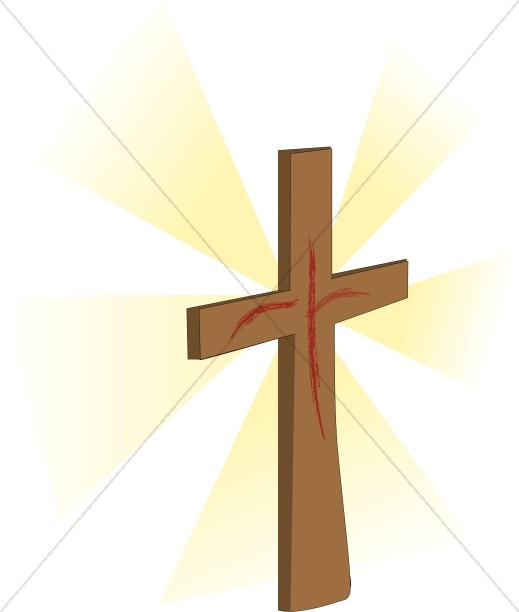 519x612 Wooden Cross With Shroud Image Cross Clipart
