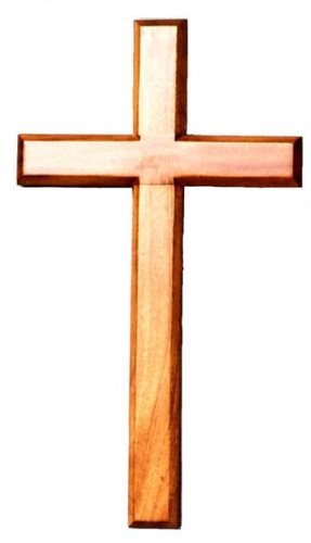 287x500 40cm Wooden Mahogany Very Large Wall Hanging Cross Brown Wood