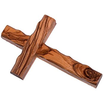 350x350 Olive Wood Cross From Bethlehem With A Certificate