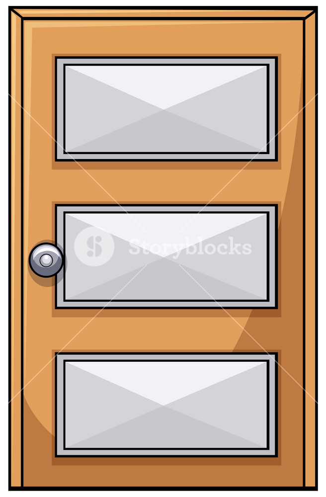656x1000 Close Up Plain Wooden Door Royalty Free Stock Image