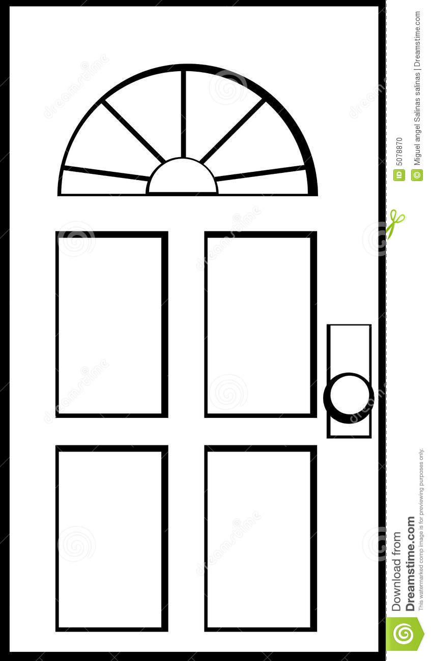 847x1300 Door Clipart Black And White