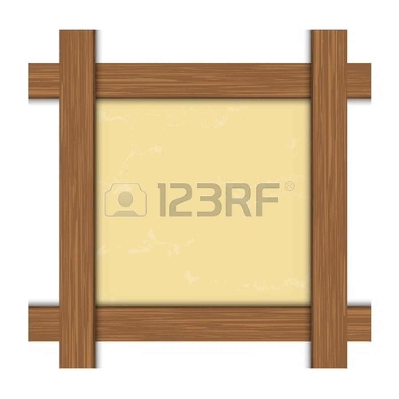 1350x1350 Wooden Frame Clipart