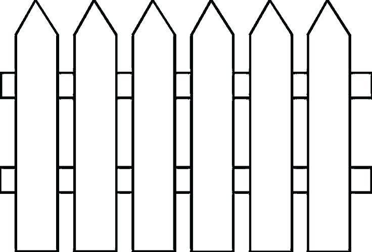 736x499 Fence Clipart House Clip Art Black And White Clipart Fence Post
