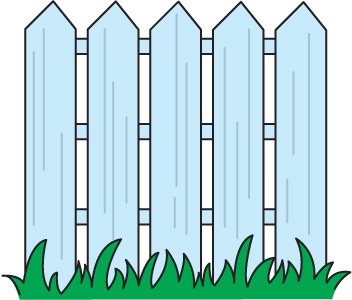 352x300 Fence Clipart Black And White