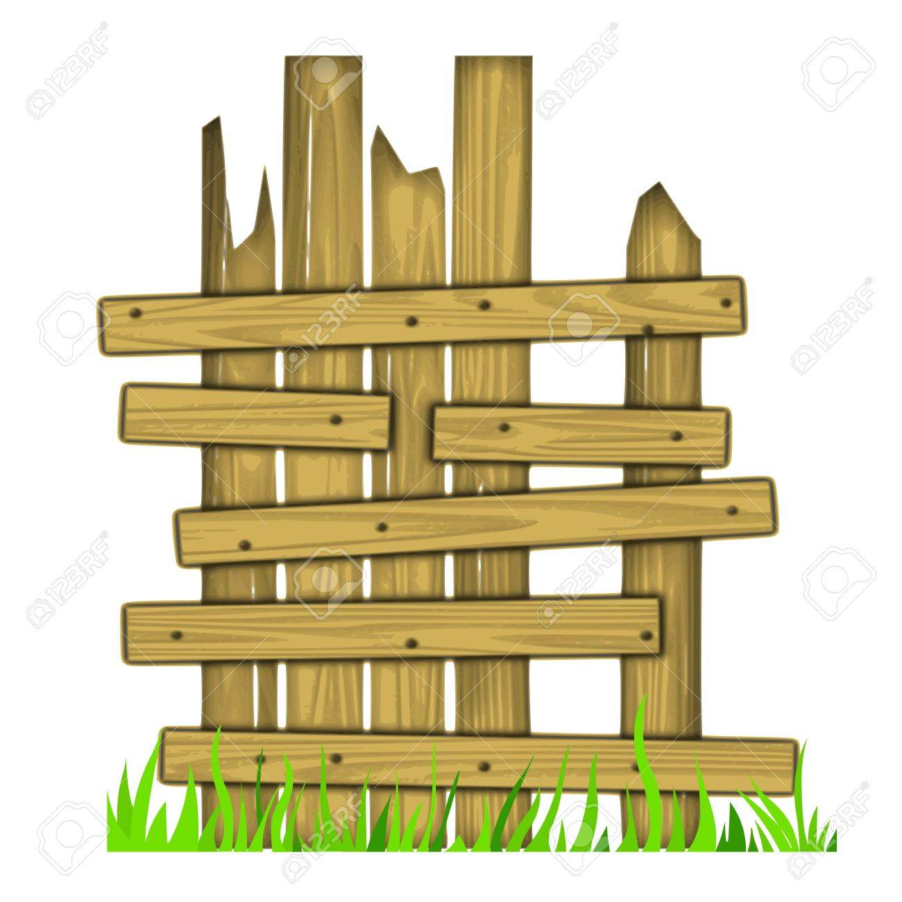 1300x1300 Old Wooden Fence On Grass